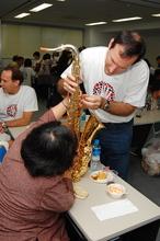 Volunteers at International Festival at Japan Blind Association