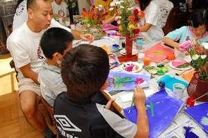 Art Lesson at Children's Home