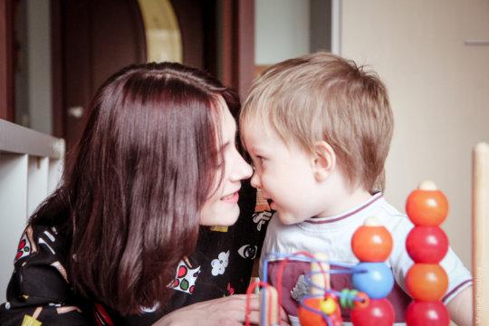 Katya and her son