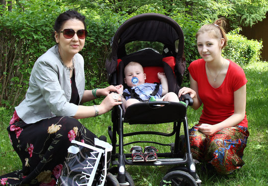 Teen Mom Nastya, her baby and mentor Svetlana