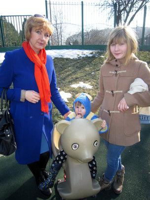 Nastya with her mentor Svetlana