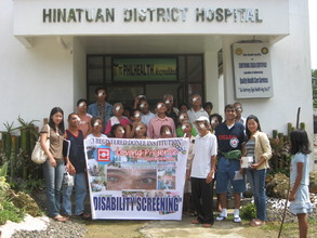 DR. CUSTODIO, OPHTHALMOLOGIST, WITH THE INDIGENT INDIVIDUALS AVA