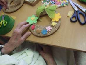 Easter workshop in hospital