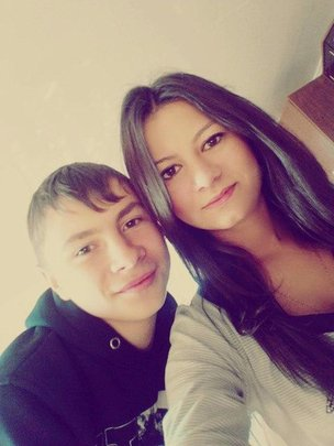 Slava with his sister