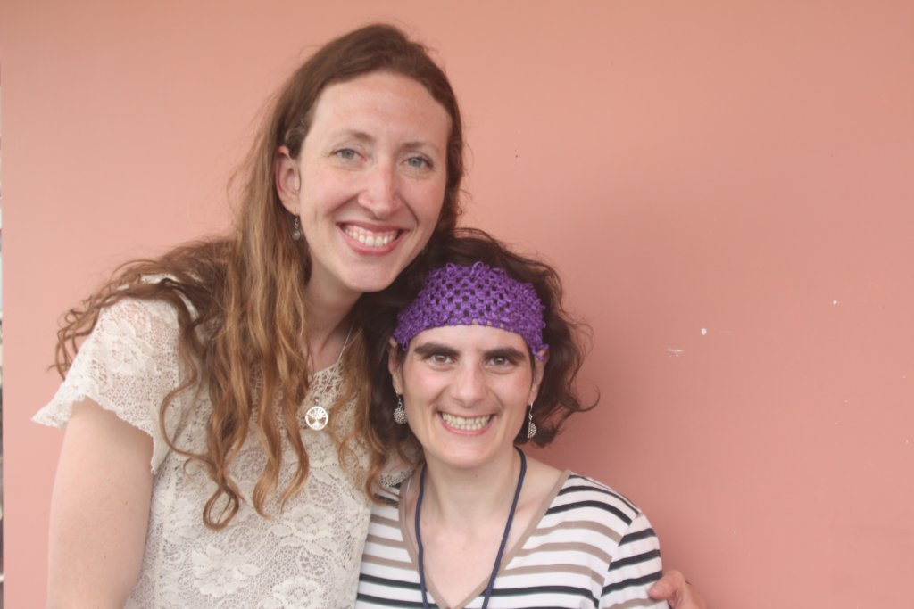 Natalie (director) and Armine (resident)