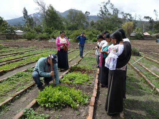 Parents Learning About Gardening at Demo Farm