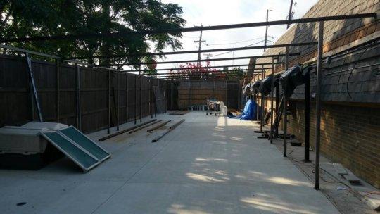 Dog Kennels under construction