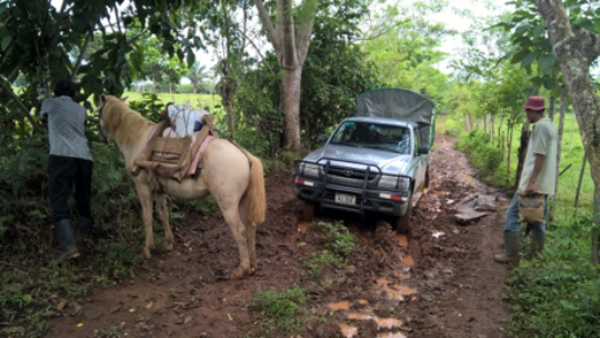the conditions of the road in rural communities