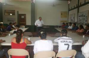Country Director Jorge Campos Solis greets group