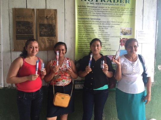 Women received toothbrushes and paste for families