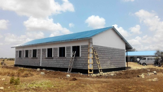 The completed building at Buyani Secondary