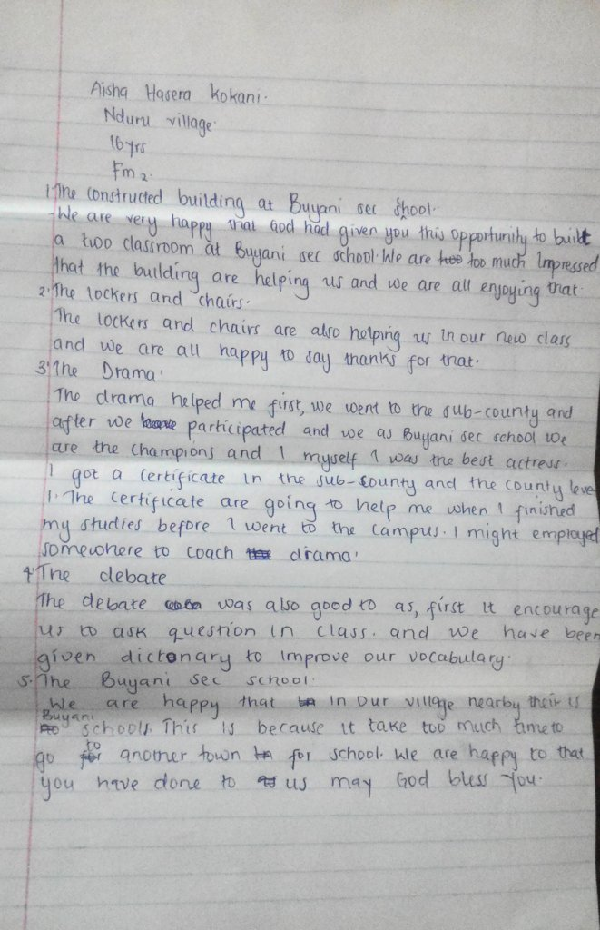 Letter from Aisha