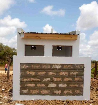 Newly completed girls' toilet