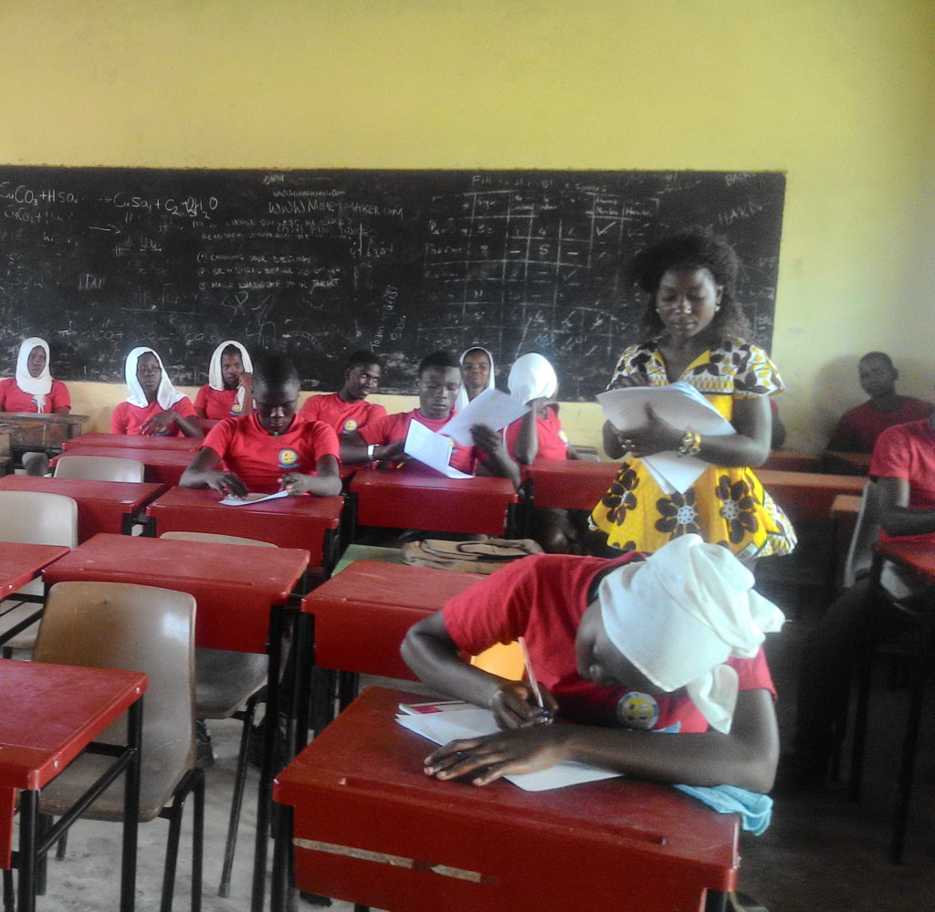 Classroom built and furnished by the foundation