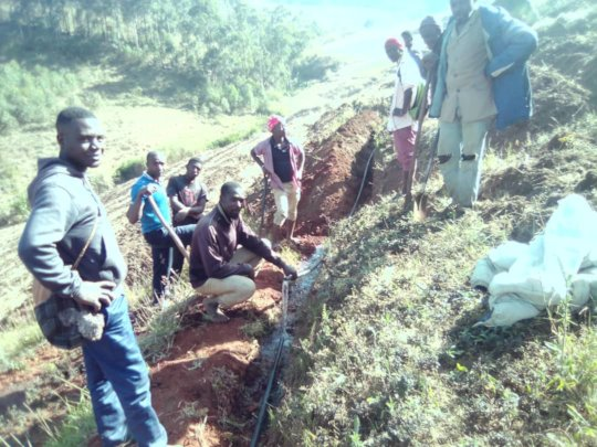 community participation during the digging of pipe