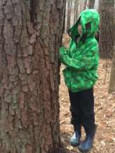 Merrit hiding from other