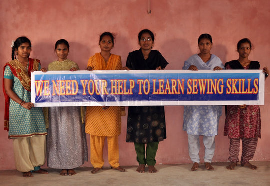 Support 60 youth sewing training