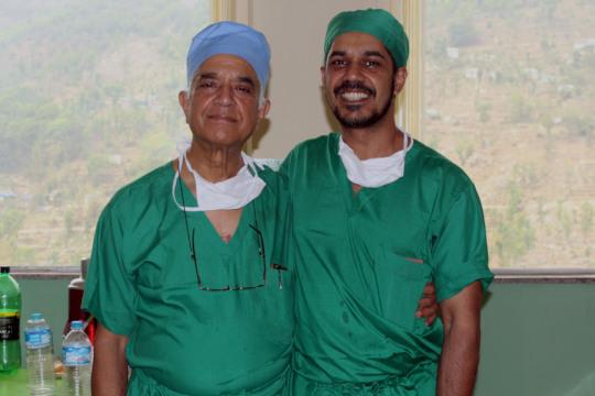 Dr. Ashok Banskota and his son, Dr. Bibek Banskota
