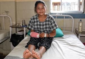 Sangita after reconstructive surgery