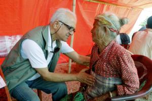 Dr. Ashok Banskota, in the field