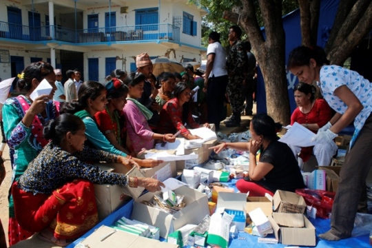 Distribution of much needed medical supplies