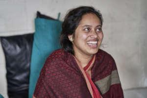 Kapila is all smiles.