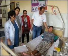 Keman at the HRDC hospital post surgery!