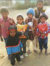Now Sakhina (bottom left) can walk to school!