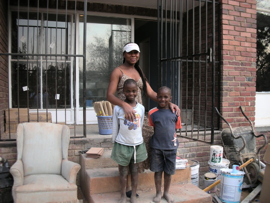 house mother , Gloria with kgatliso & Jacob