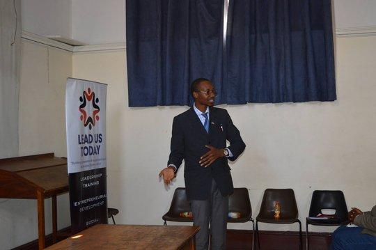 Ernest delivering his presentation at LeadTalks