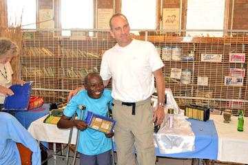 Dr. B. Jackson with community member, Munetsi