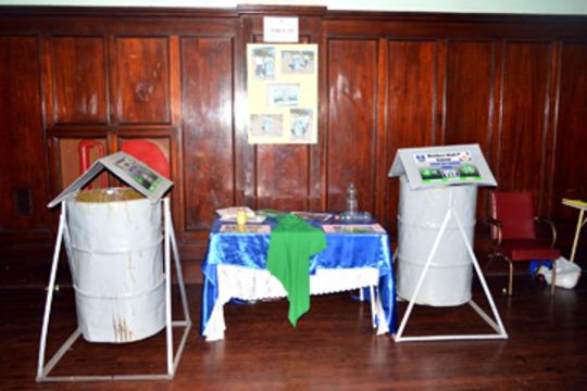 Mzilikazi High School bins on display at the Expo