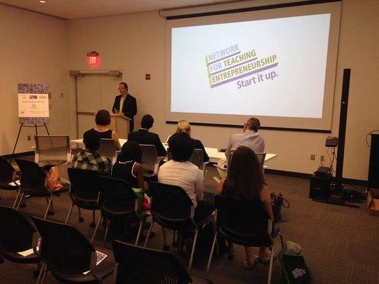 a guest speaker in a NFTE classroom
