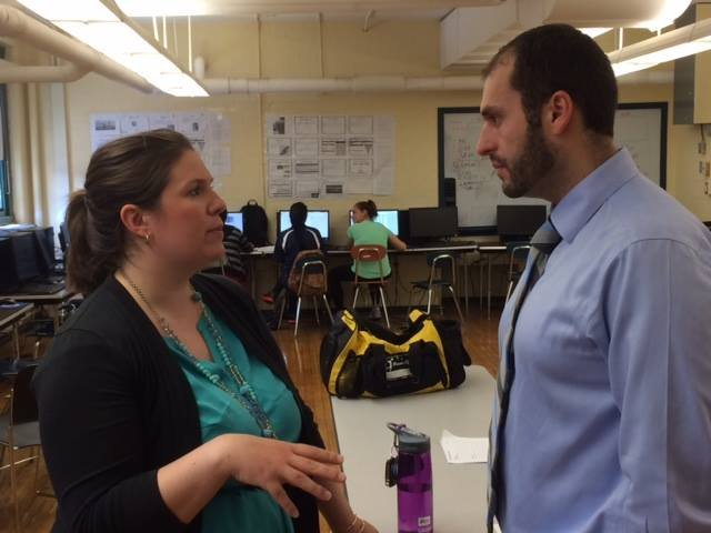 mentors in a NFTE New England class