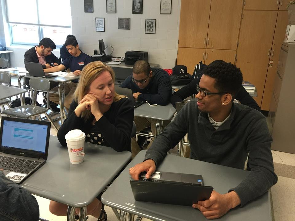 technology mentoring at Lawrence High School