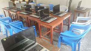 Computers setup for training