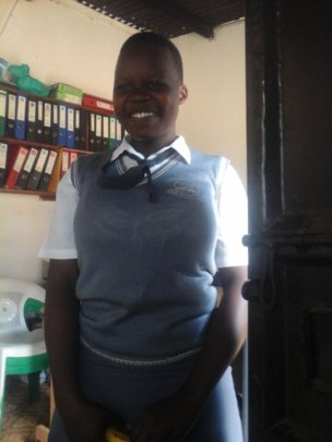 Justine at school on his visitation day -1