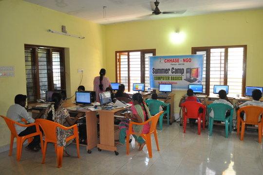 Teach computer basic to rural poor children