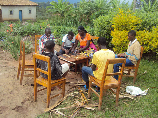 Handicraft making to support domestic violence
