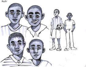 Illustration development for teen HIV book
