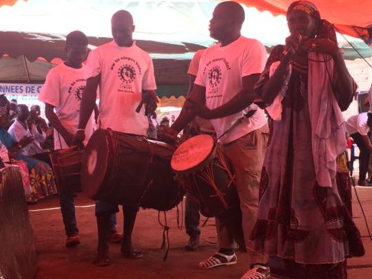 Teens drumming