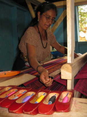 Our weaving loom which the elderly can use