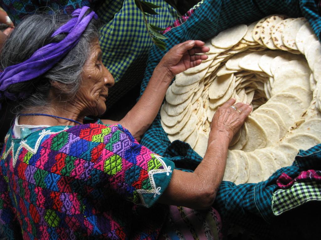 Feeding the elderly in Guatemala