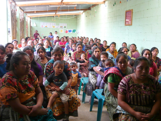 Moms and Grandmothers waiting for the workshop
