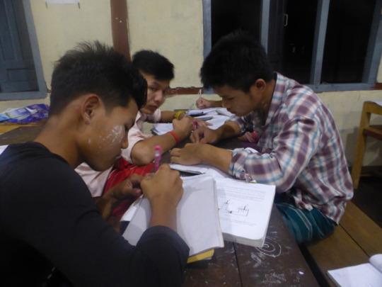 At night school