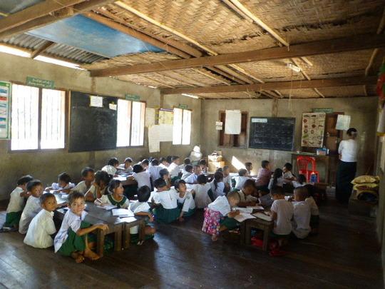 Classroom of the school under consideration