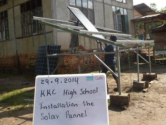 Installation of solar system (1)solar panel