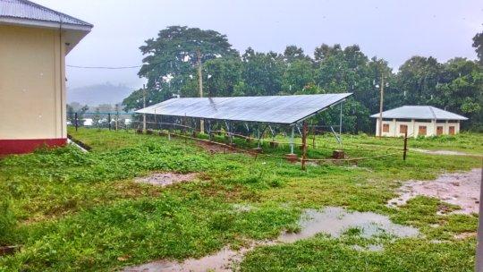 Solar panels in Hpa Pun hospital