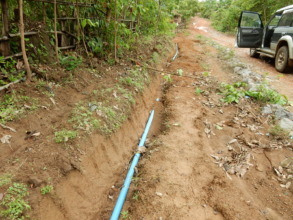 water pipe repaired by villagers