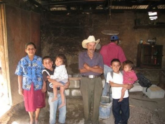 Family with new stove